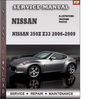 2006 2007 2008 2009 Nissan 350z manual