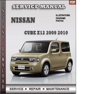2009 2010 nissan cube z12 service repair manual. Black Bedroom Furniture Sets. Home Design Ideas