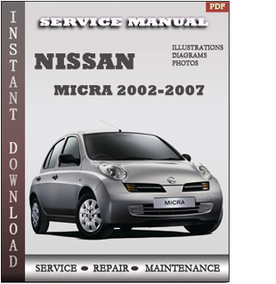 2002 2007 nissan micra k12 service repair manual. Black Bedroom Furniture Sets. Home Design Ideas