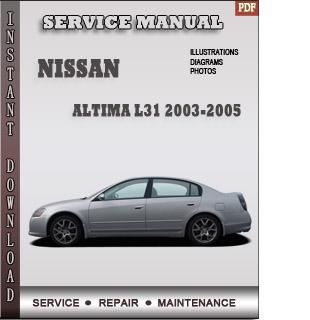 2003 2004 2005 Nissan Altima manual free pdf download