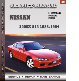 200SX S13  service repair manual