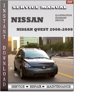 quest nissan 2008 2009 free pdf service